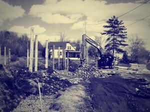 Construction de la chevrerie